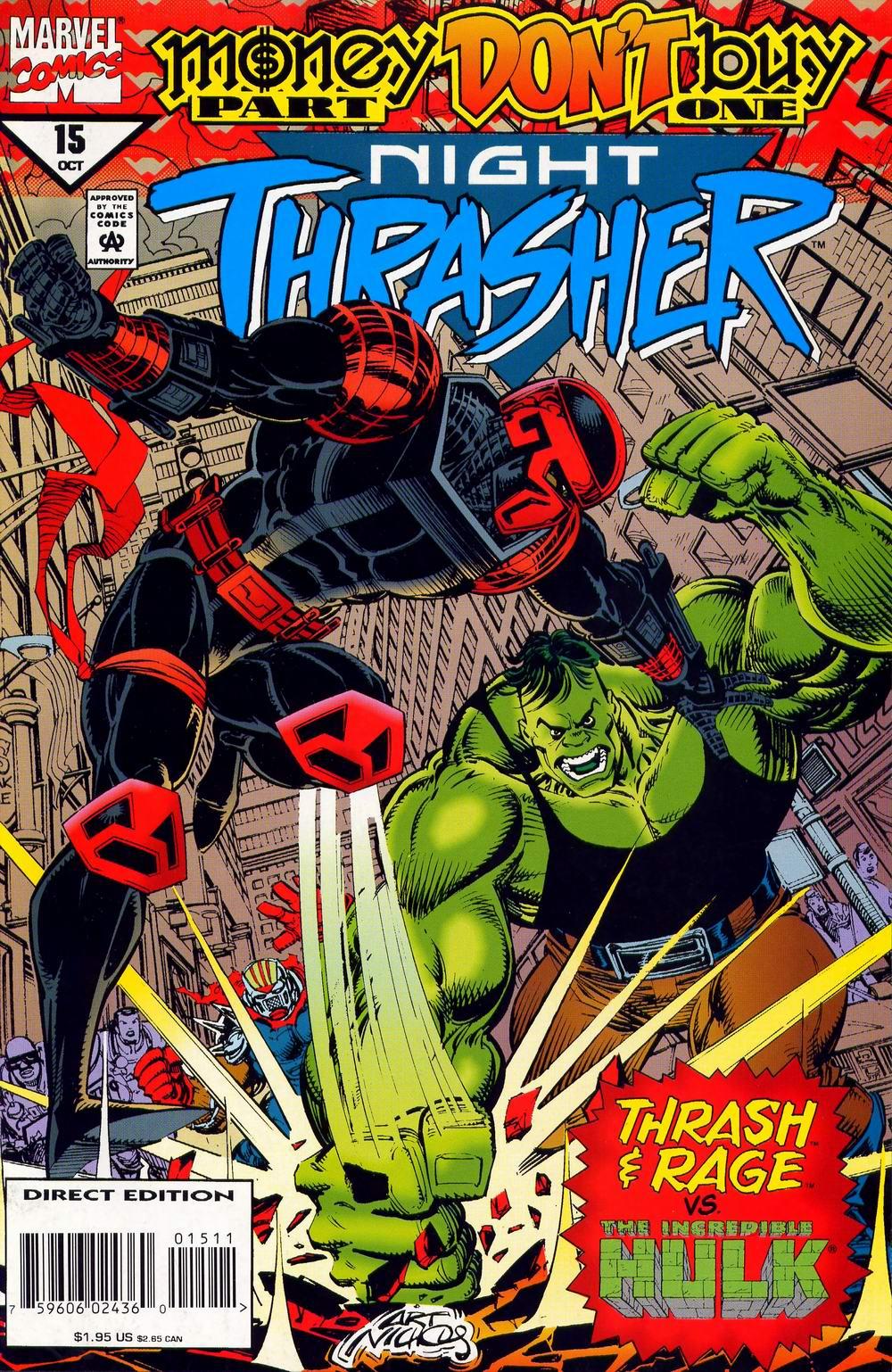Couverture de Night Thrasher #15 avec Hulk