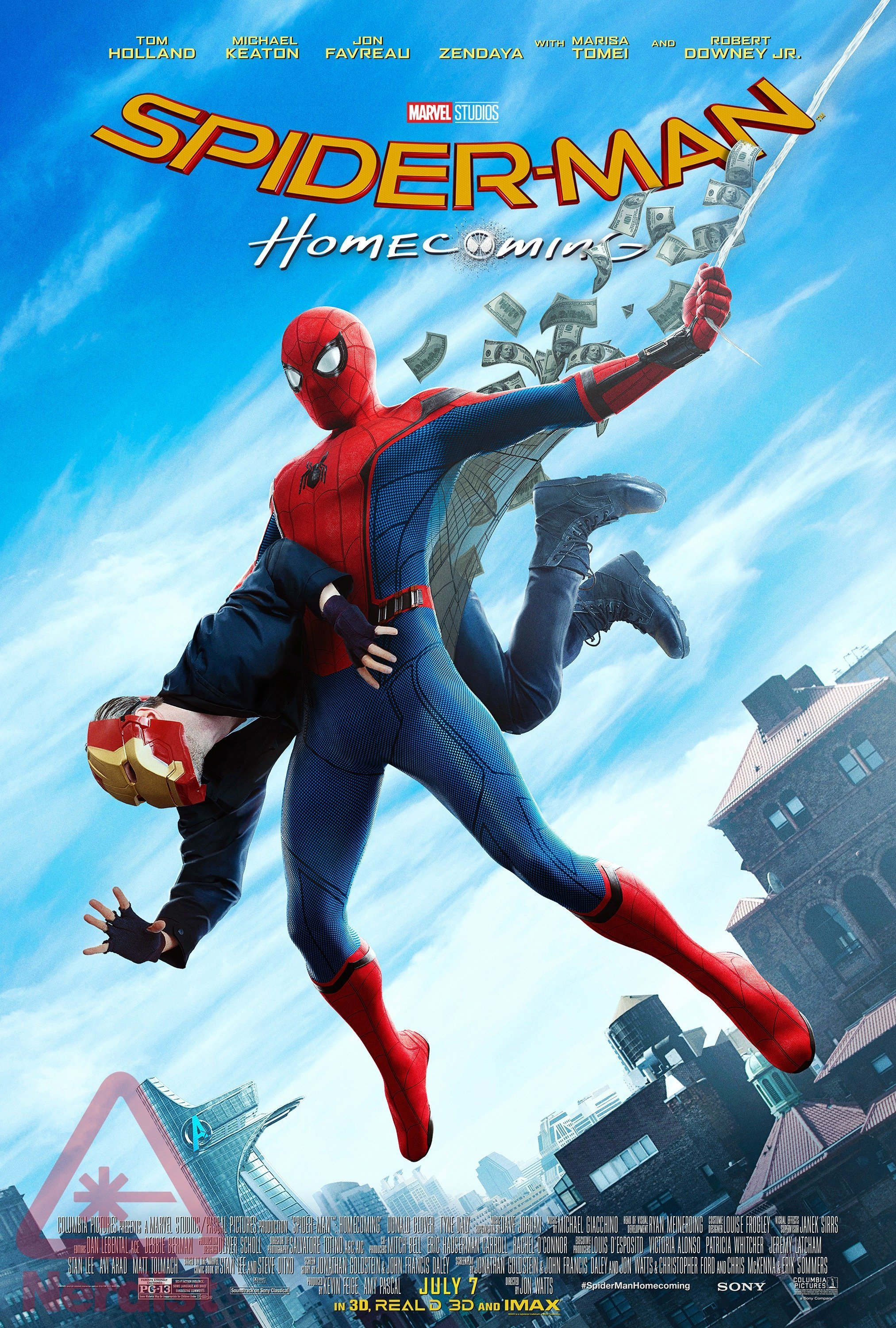 Poster du film Spider-Man: Homecoming rendant hommage à Amazing Fantasy #15