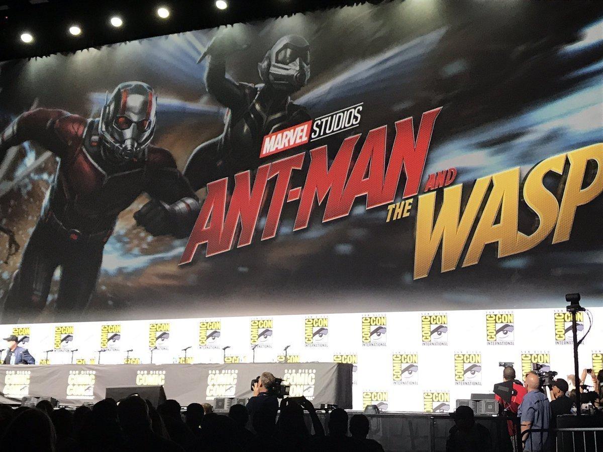 Photo d'un concept art du film Ant-Man and the Wasp diffusé lors du panel Marvel à la Comic-Con 2017