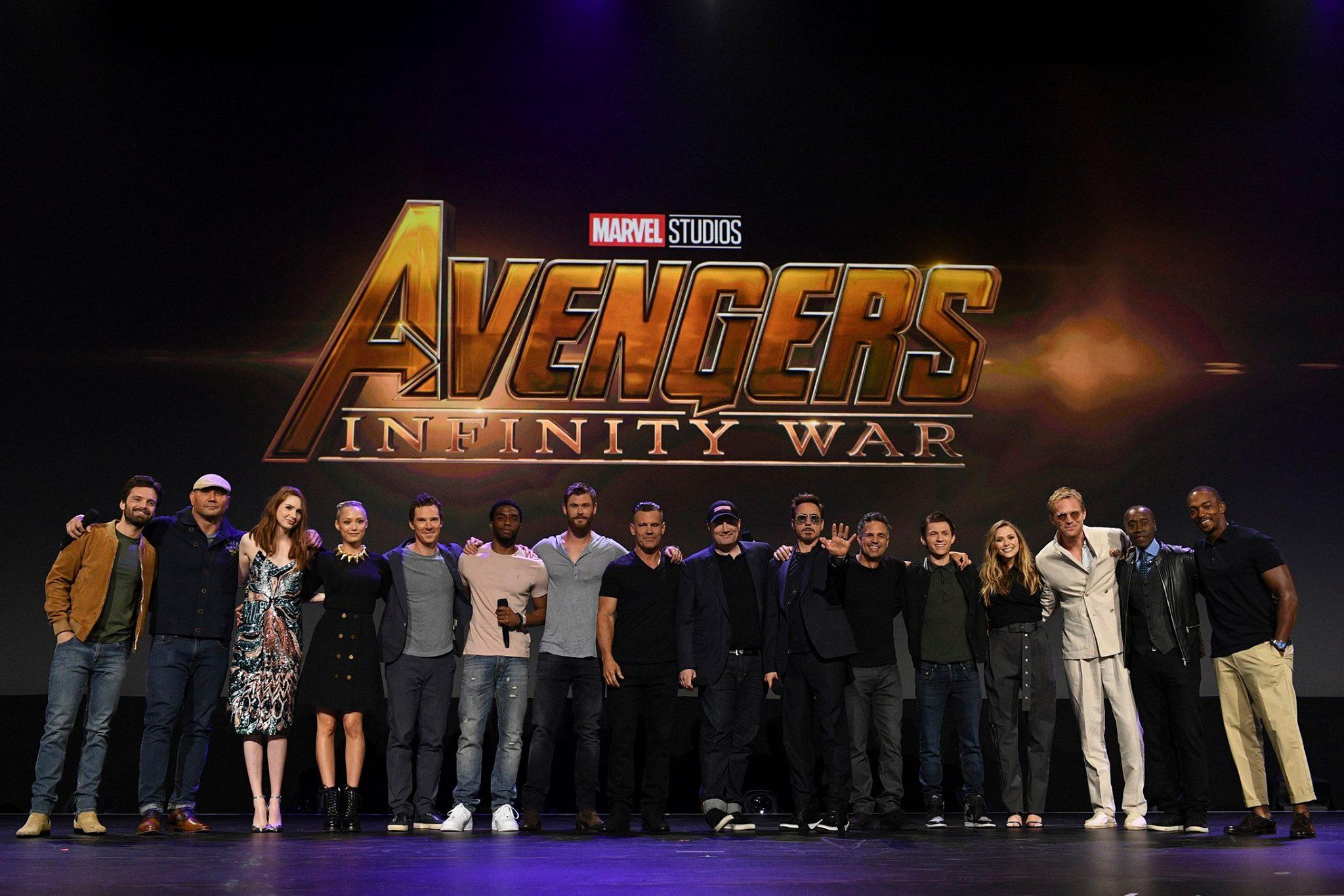 Photo du film Avengers: Infinity War au D23 2017 avec le casting presque au complet