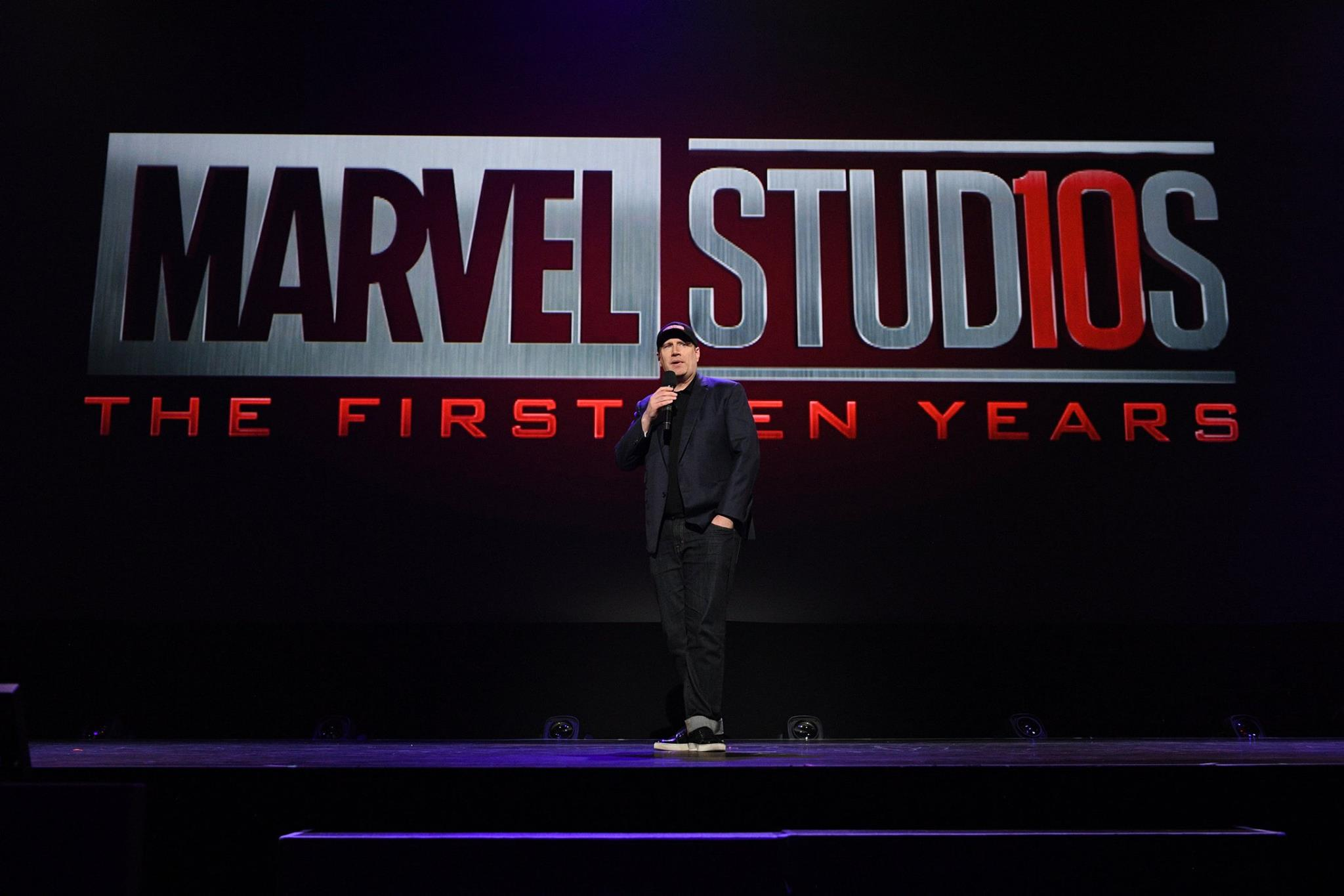 Photo du film Avengers: Infinity War au D23 2017 avec MARVEL STUD10S