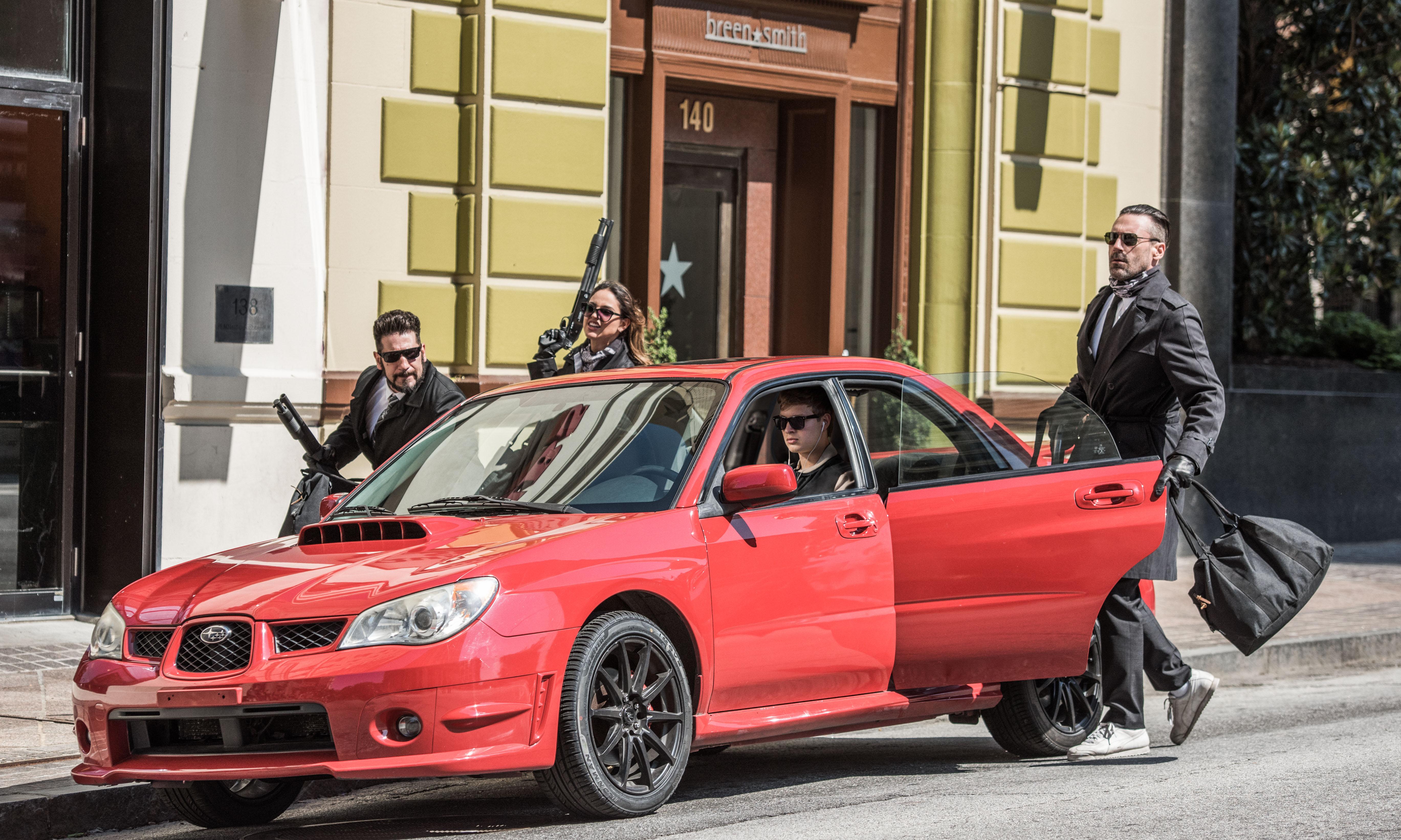 Photo du film Baby Driver avec Jon Bernthal, Eiza González, Ansel Elgort et Jon Hamm