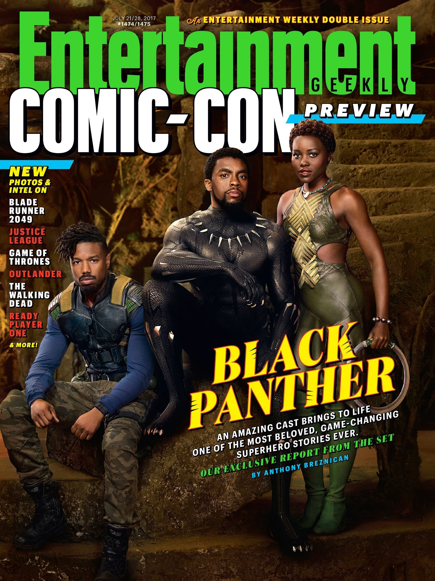 Couverture d'Entertainment Weekly avec Black Panther