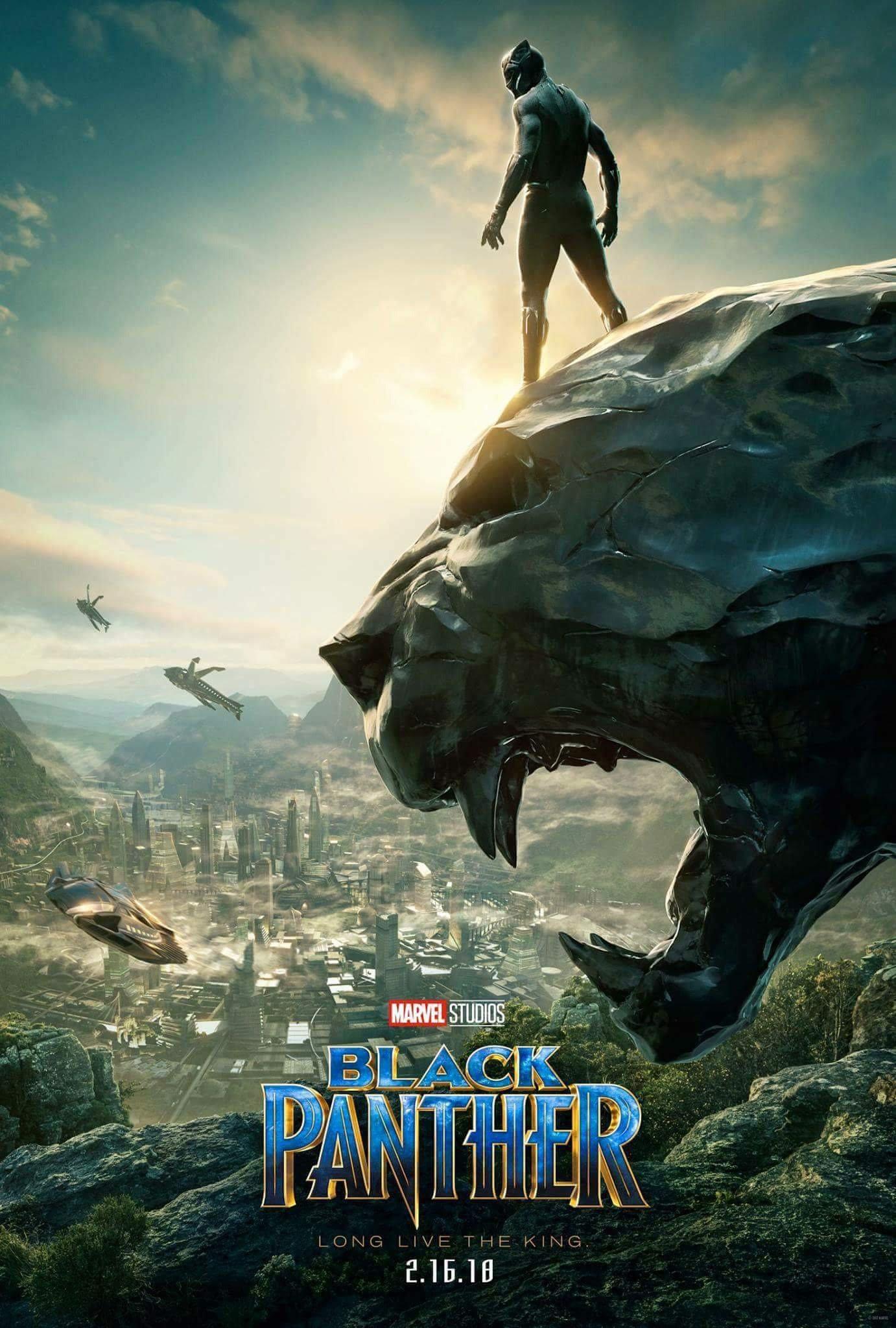 Poster teaser pour le film Black Panther réalisé par Ryan Coogler