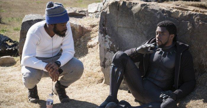 Photo du tournage du film Black Panther réalisé par Ryan Coogler avec Ryan Coogler et Chadwick Boseman