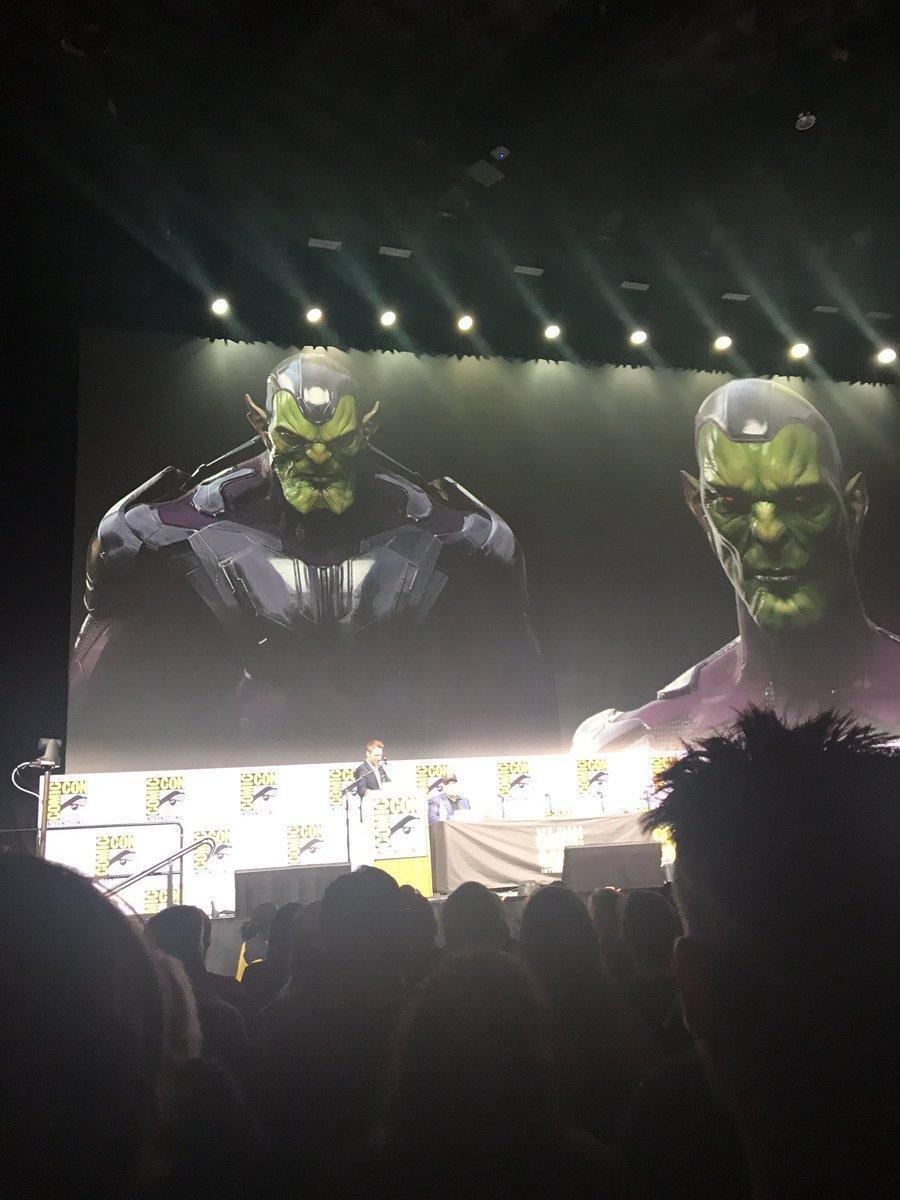 Photo d'un concept art de la race Skrull pour le film Captain Marvel diffusé lors du panel Marvel à la Comic-Con 2017