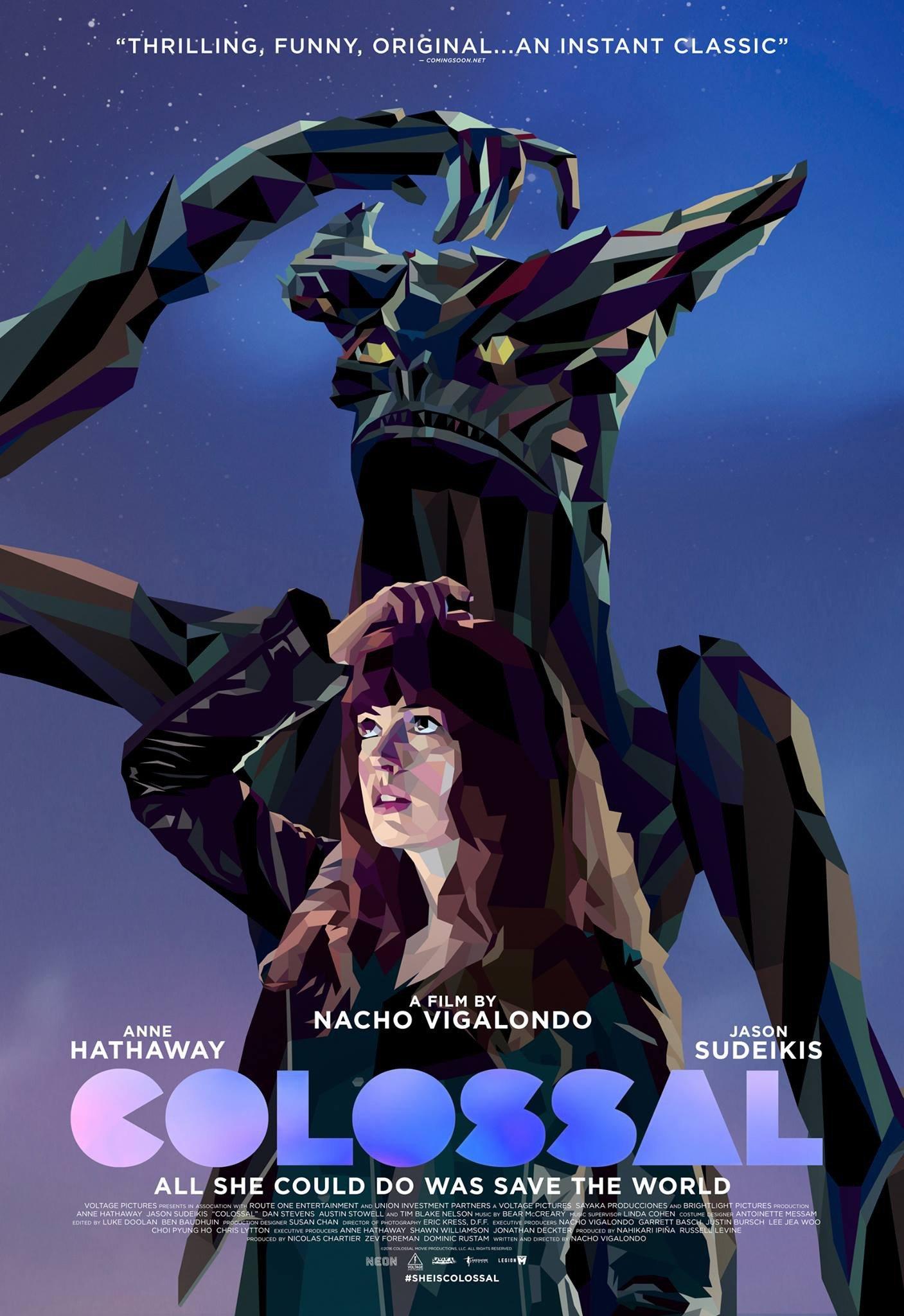 Poster du film Colossal avec Anne Hathaway