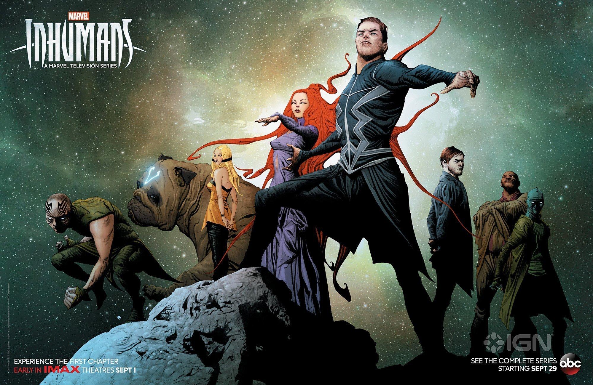 Poster de la série Inhumans par Jae Lee pour la Comic-Con 2017
