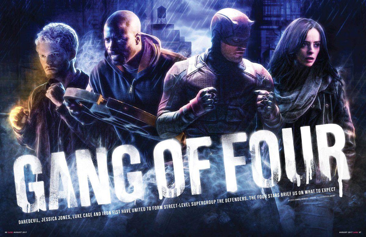 Bannière de la série The Defenders avec le Gang of Four