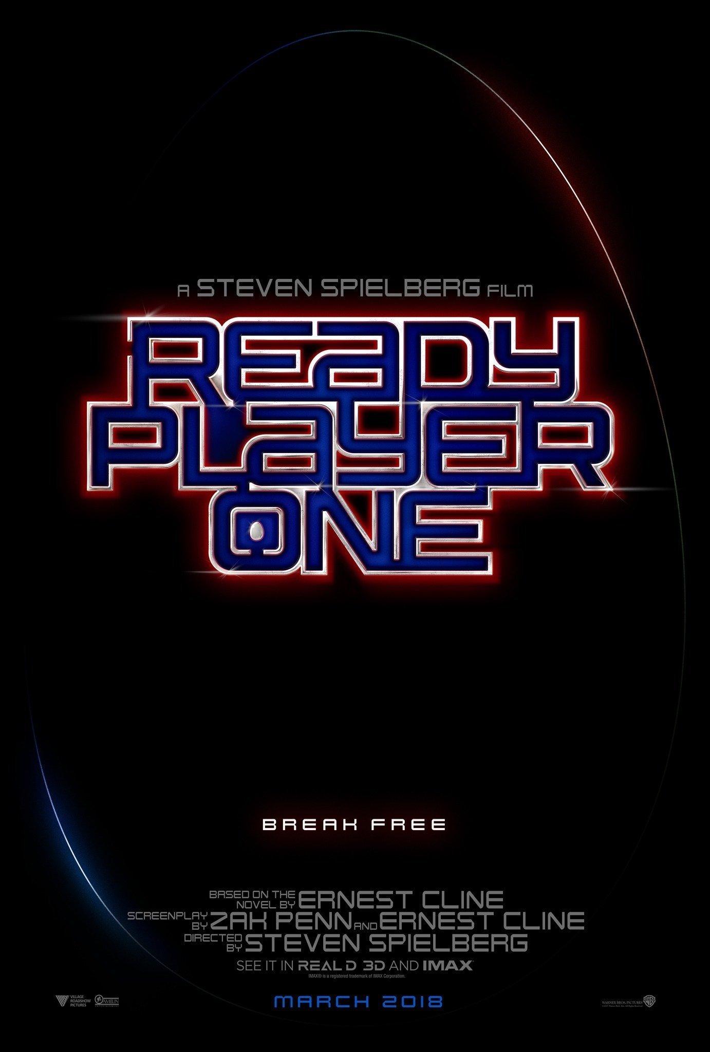Poster teaser du film Ready Player One montrant le logo