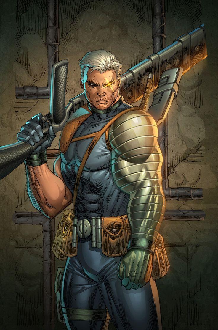 Image du X-Men Cable, personnage de Marvel Comics, par Rob Liefeld