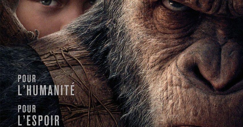 Affiche française du film La Planète des Singes: Suprématie