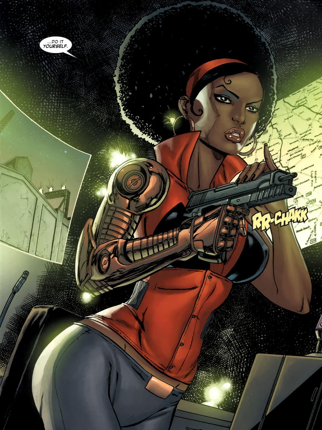 "Image de Misty Knight, personnage de Marvel Comics, proclamant ""Do It Yourself"""
