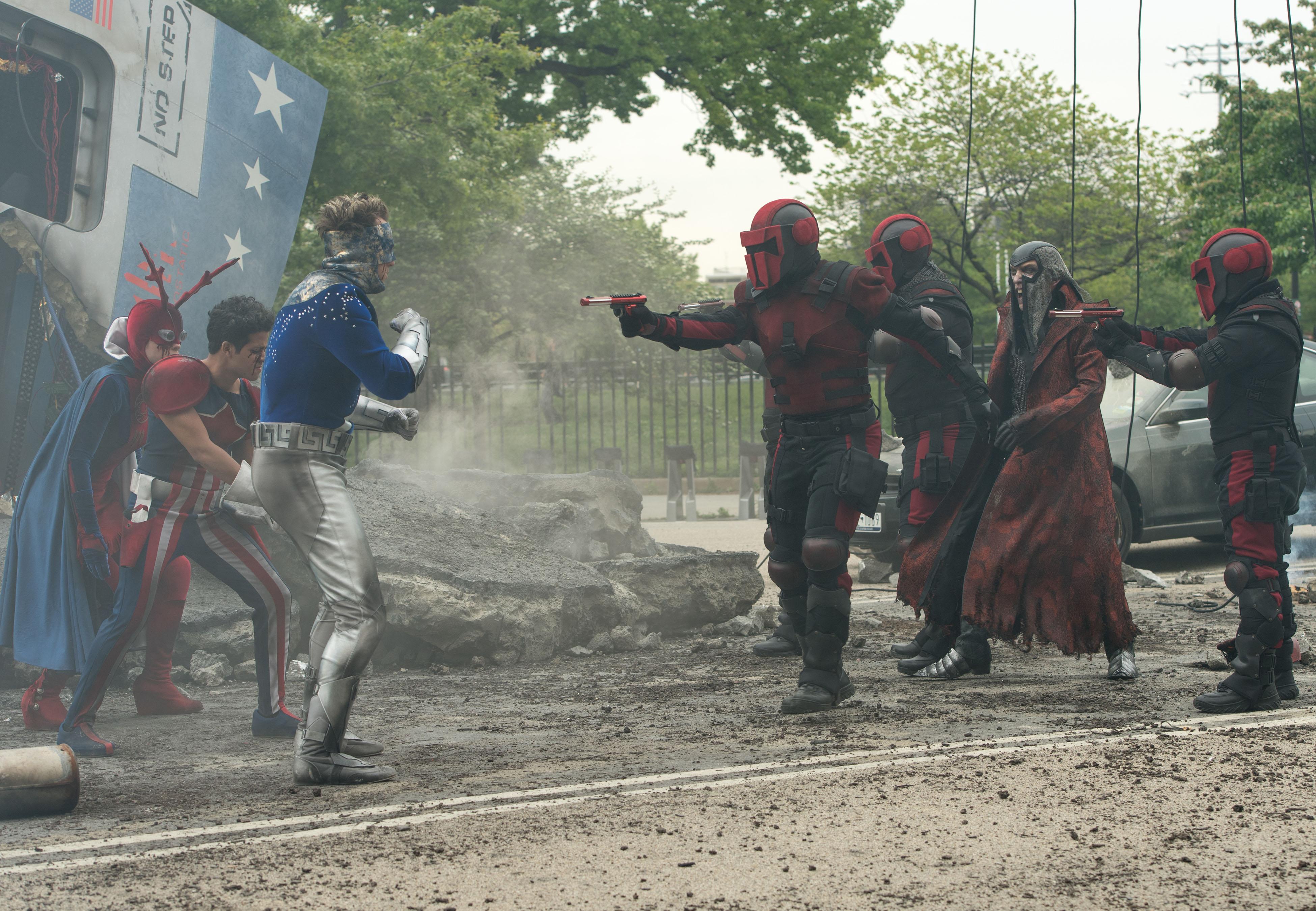 Photo de la saison 1 de The Tick avec La Terreur.