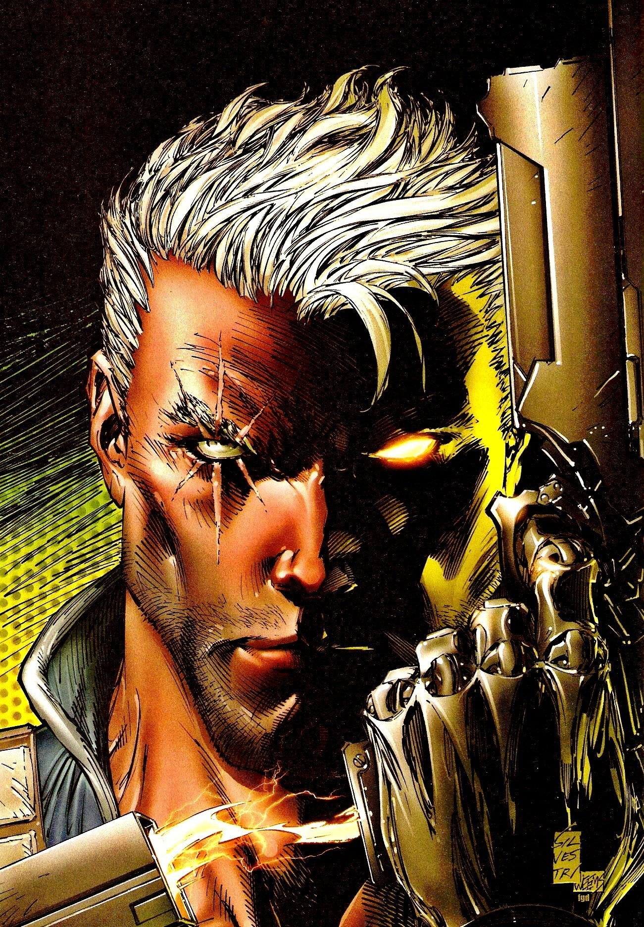 Image du visage du X-Men Cable, personnage de Marvel Comics