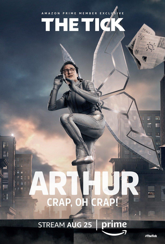 Poster de la saison 1 de The Tick avec Arthur