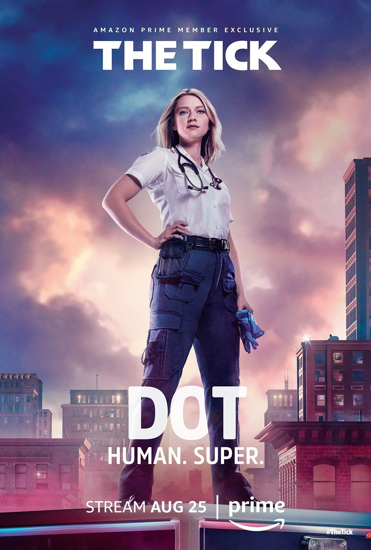 Poster de la saison 1 de The Tick avec Dot