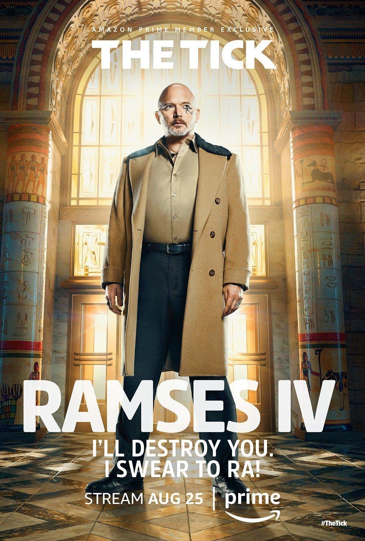 Poster de la saison 1 de The Tick avec Ramses IV