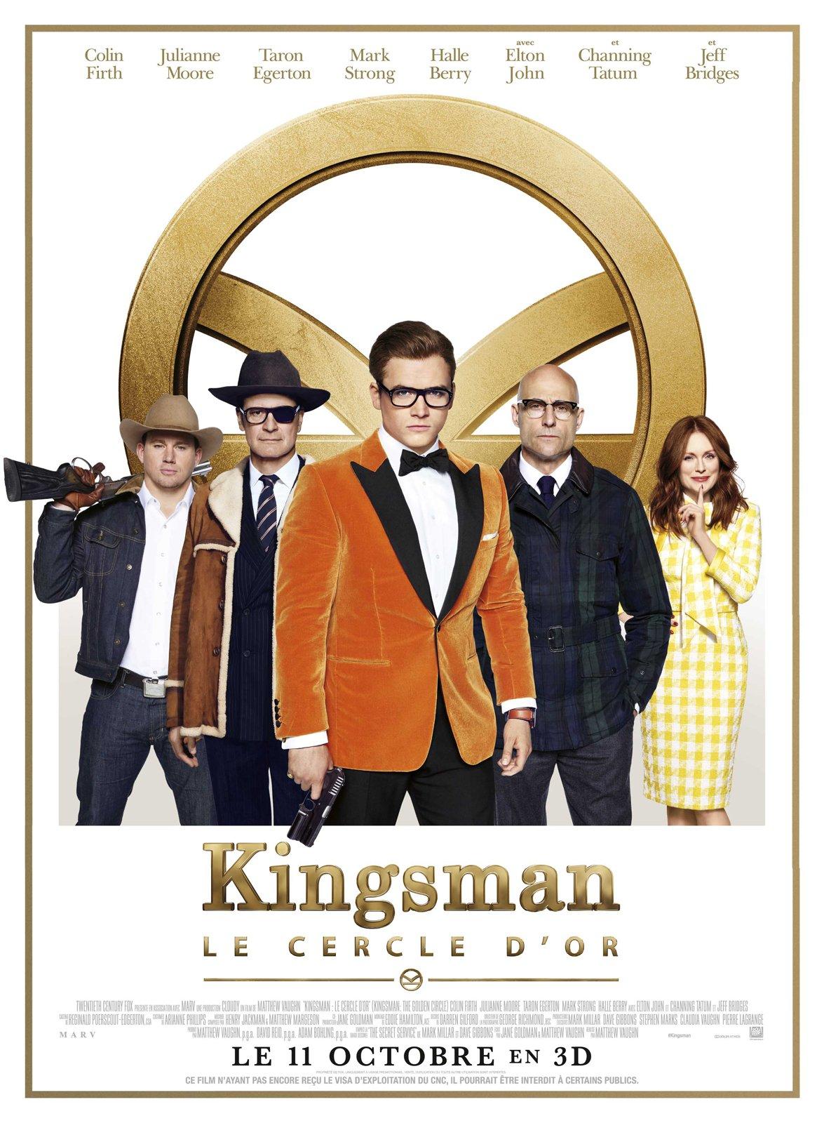 Affiche française du film Kingsman: Le Cercle d'Or