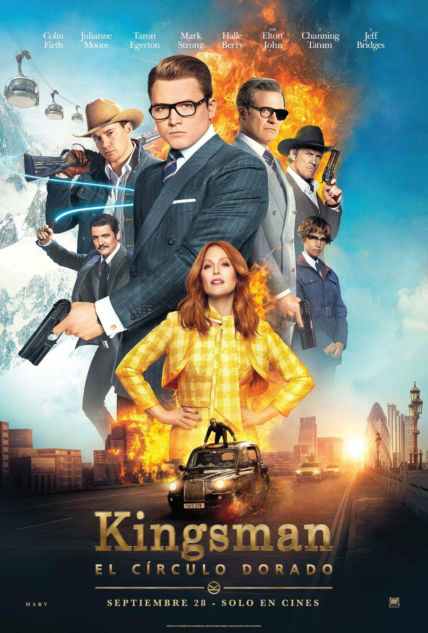 Poster espagnol du film Kingsman: Le Cercle d'Or