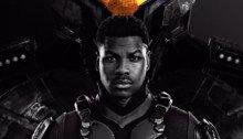 Poster du film Pacific Rim: Uprising avec John Boyega devant Gispy Avenger