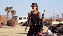 Photo de Linda Hamilton (Sarah Connor) dans le film Terminator 2: Le Jugement Dernier