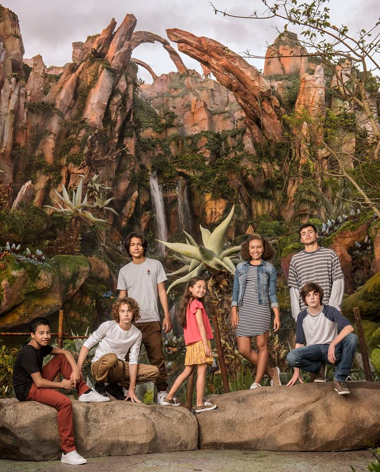 Photo des enfants des Avatar Sequels prise au parc Disney Animal Kingdom à Orlando