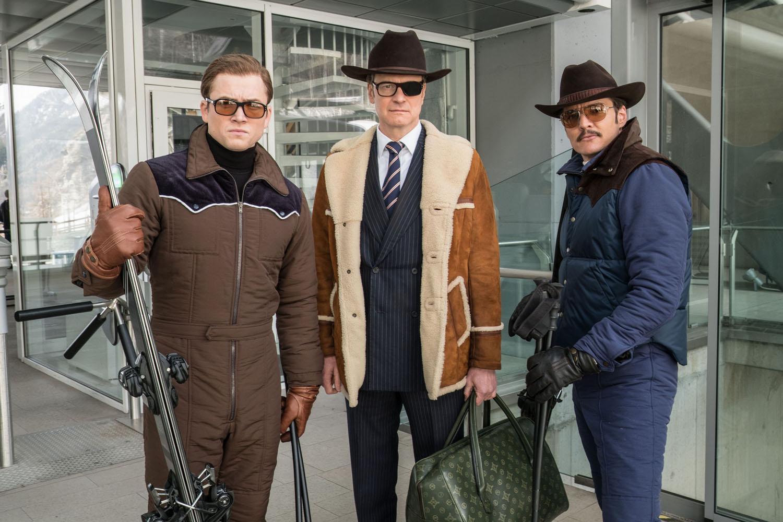 Photo du film Kingsman: Le Cercle d'Or avec Taron Egerton, Colin Firth et Pedro Pascal