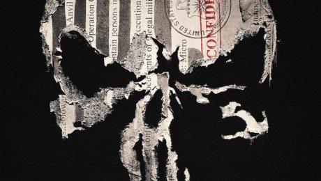 Poster de la saison 1 de la série The Punisher avec le Crâne