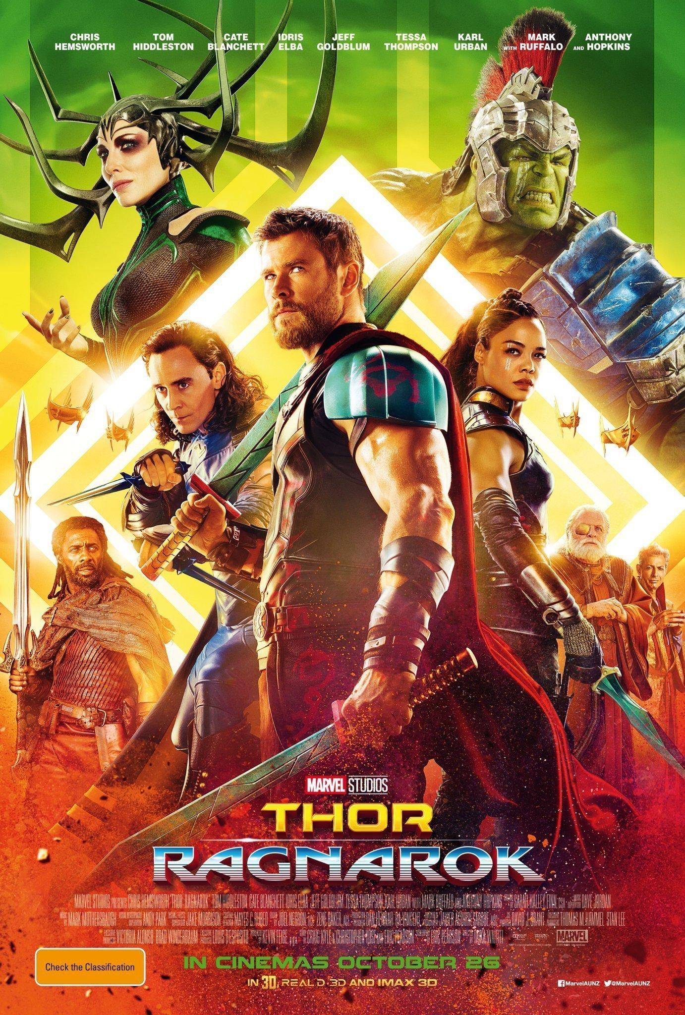 Poster international du film Thor: Ragnarok