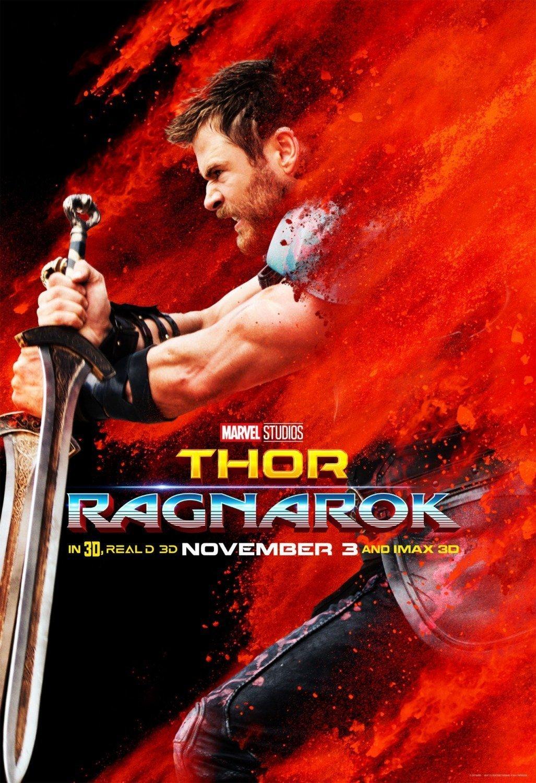 Poster du film Thor: Ragnarok avec Thor