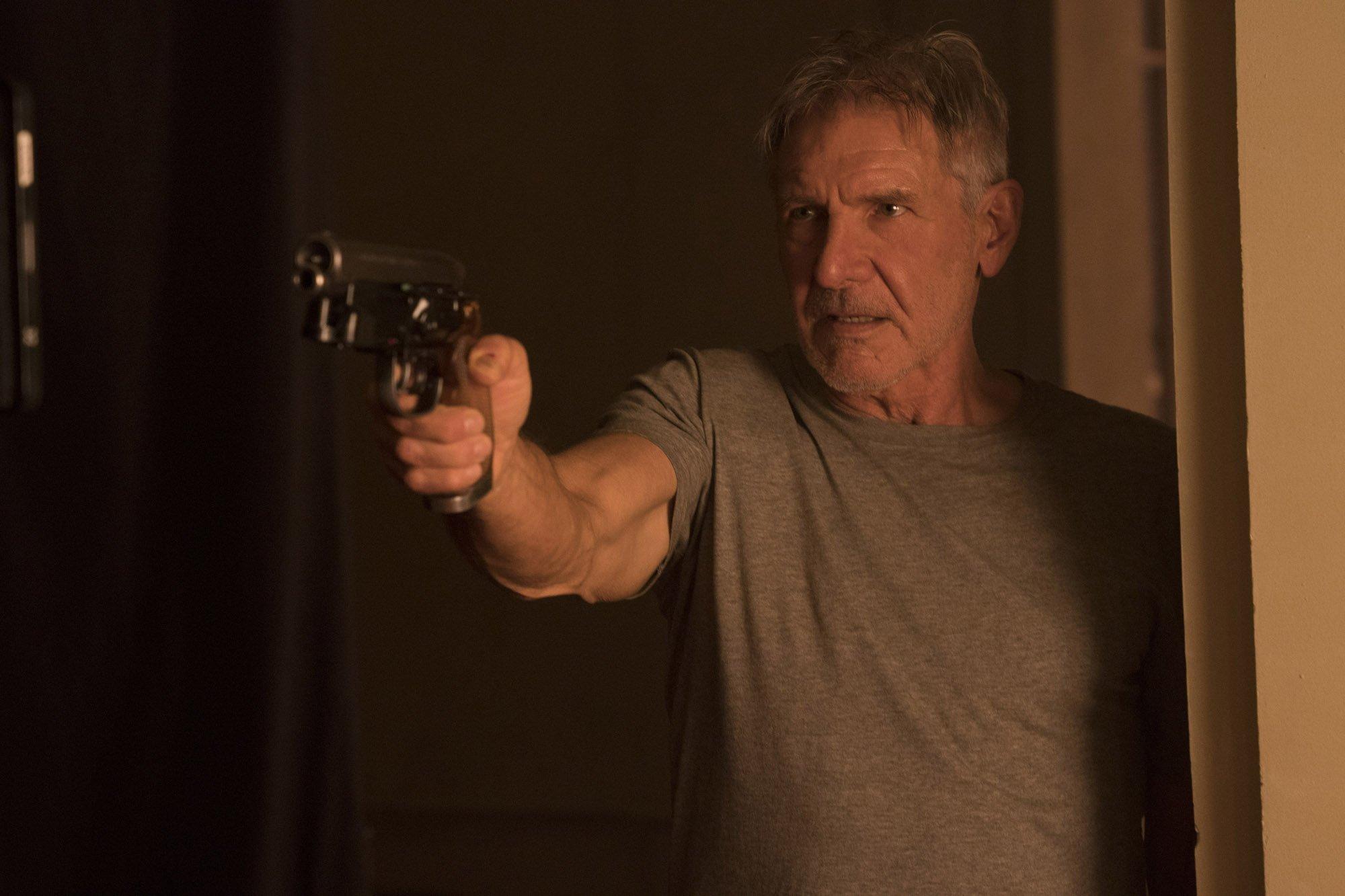 Photo du film Blade Runner 2049 avec Rick Deckard (Harrison Ford)