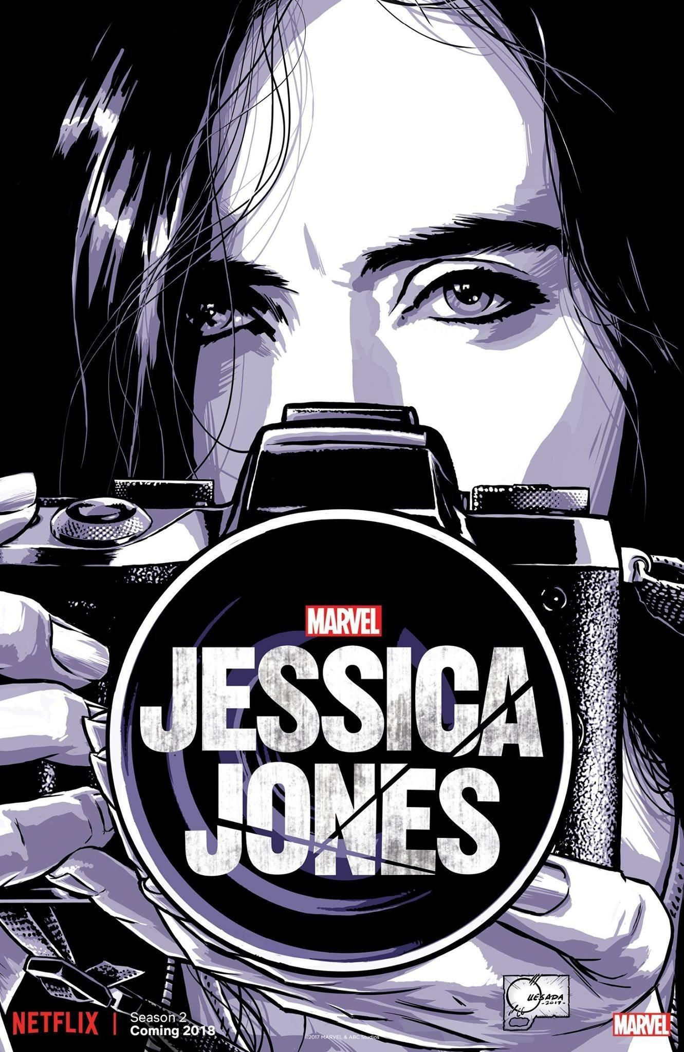 Poster de la saison 2 de Jessica Jones pour la Comic-Con de New York de 2017 avec Krysten Ritter