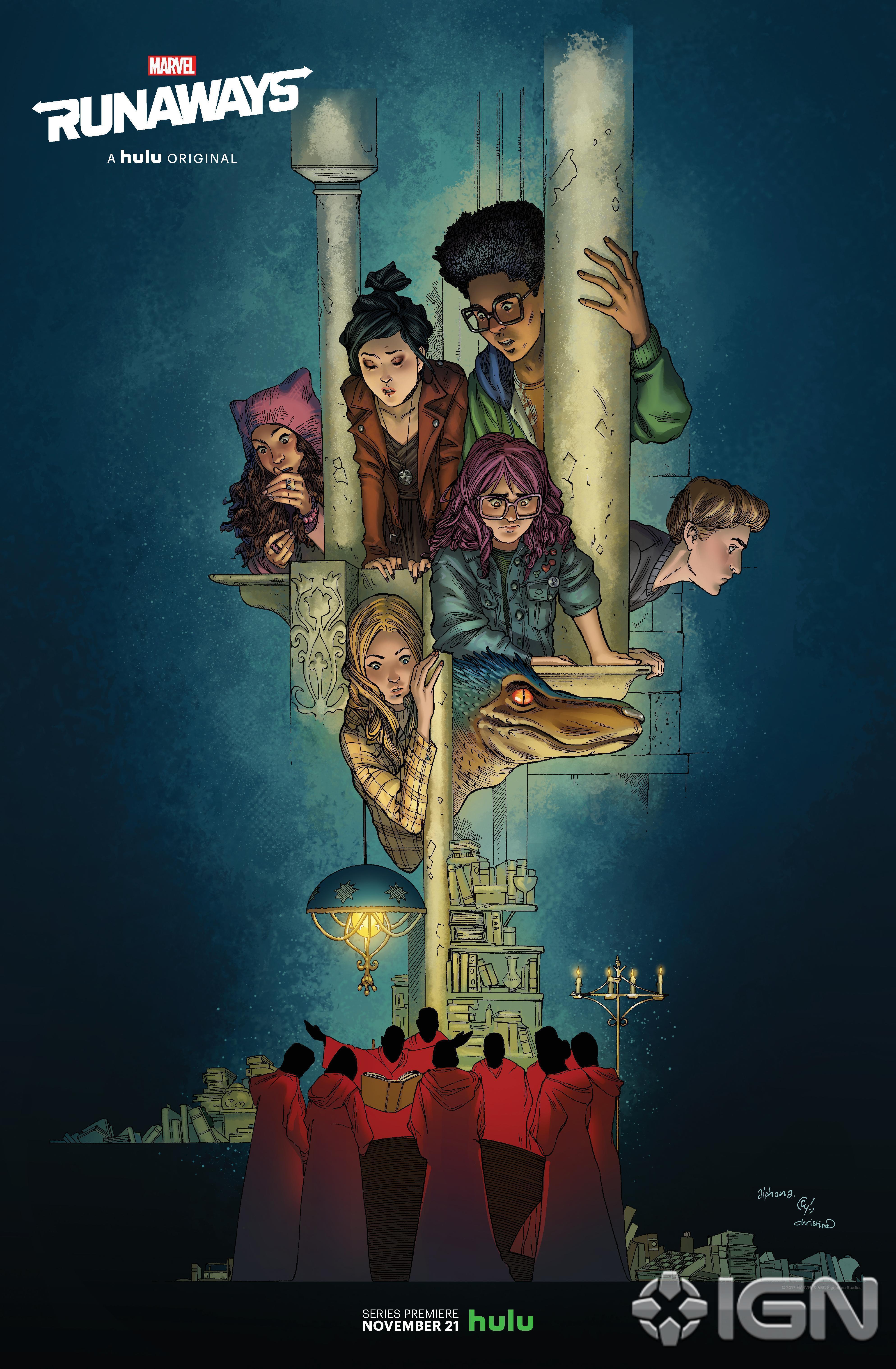 Poster de la saison 1 de Runaways pour la Comic-Con de New York de 2017