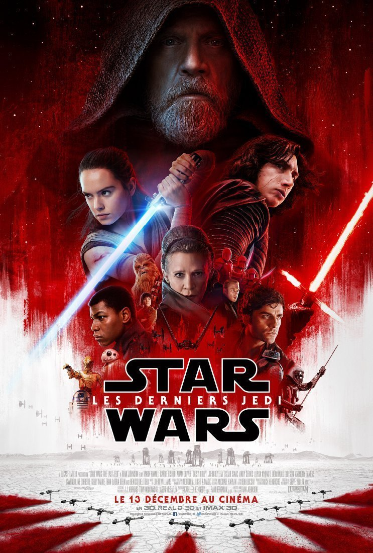 Affiche française finale du film Star Wars: Les Derniers Jedi