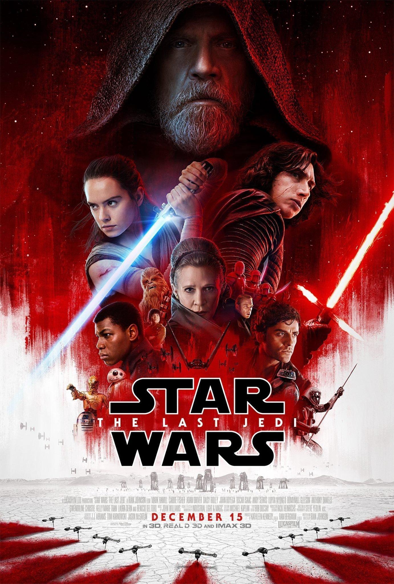 Poster final du film Star Wars: Les Derniers Jedi