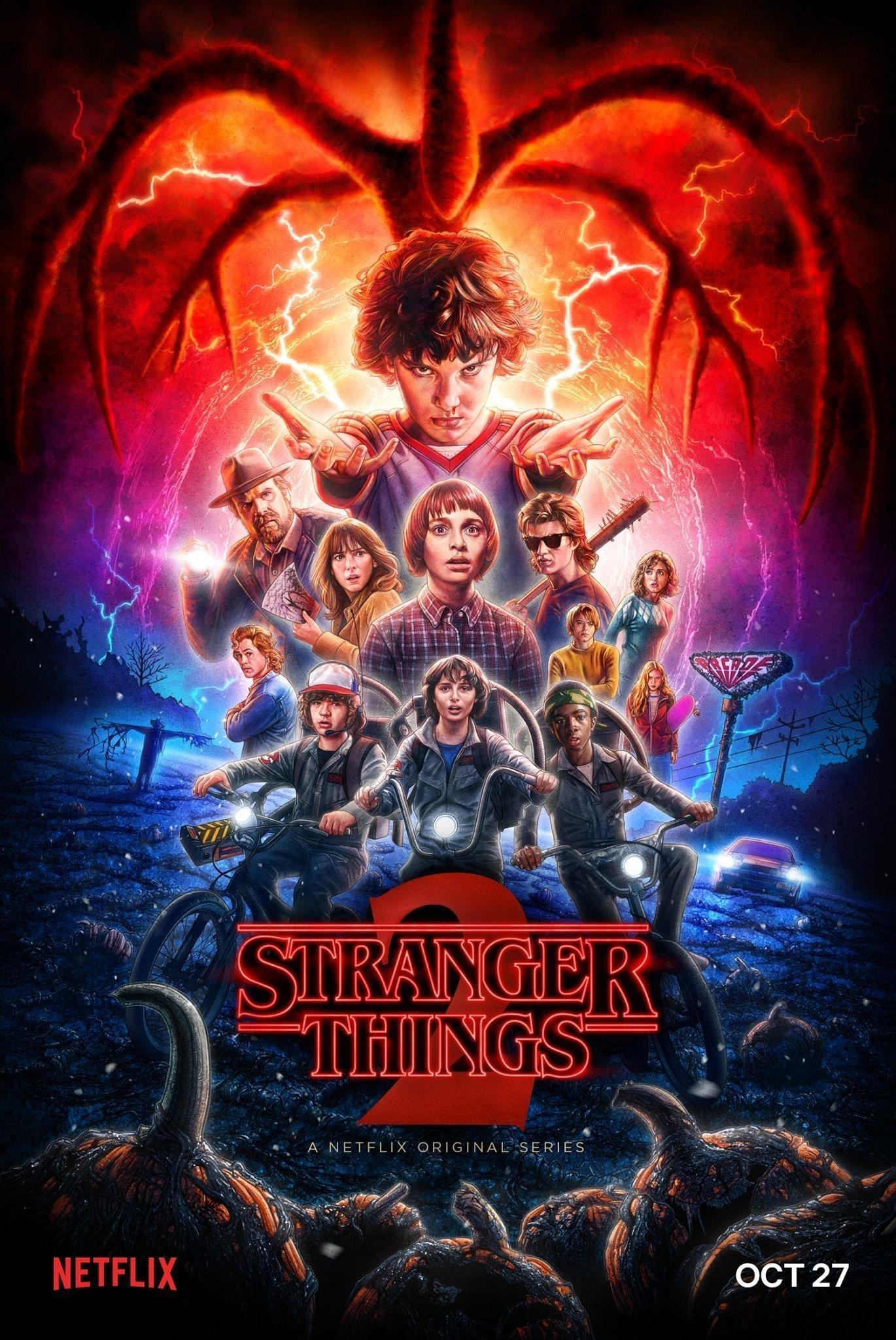Poster officiel de Stranger Things 2