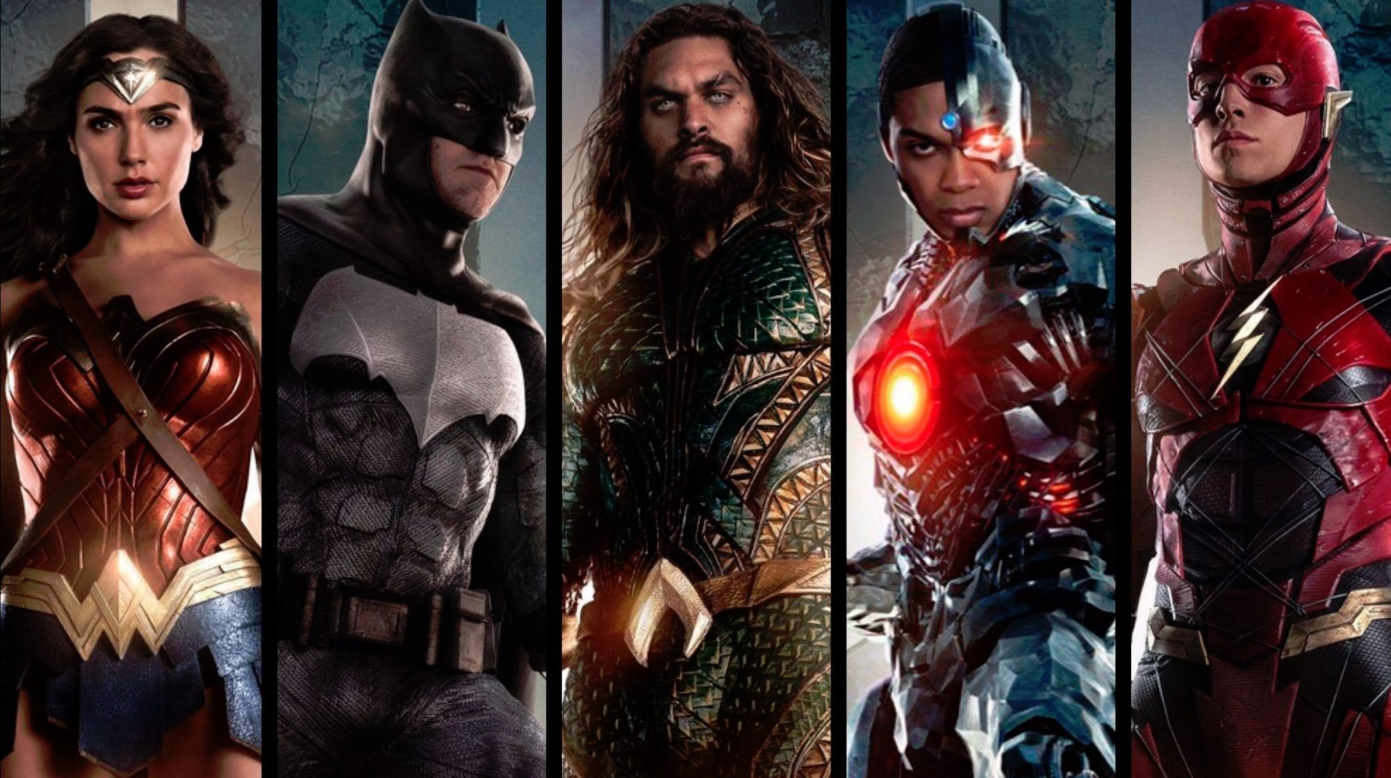 Photo du film Justice League avec l'équipe