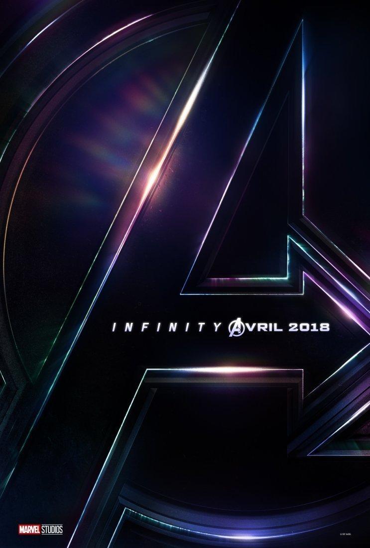 Affiche teaser avec le logo pour le film Avengers: Infinity War