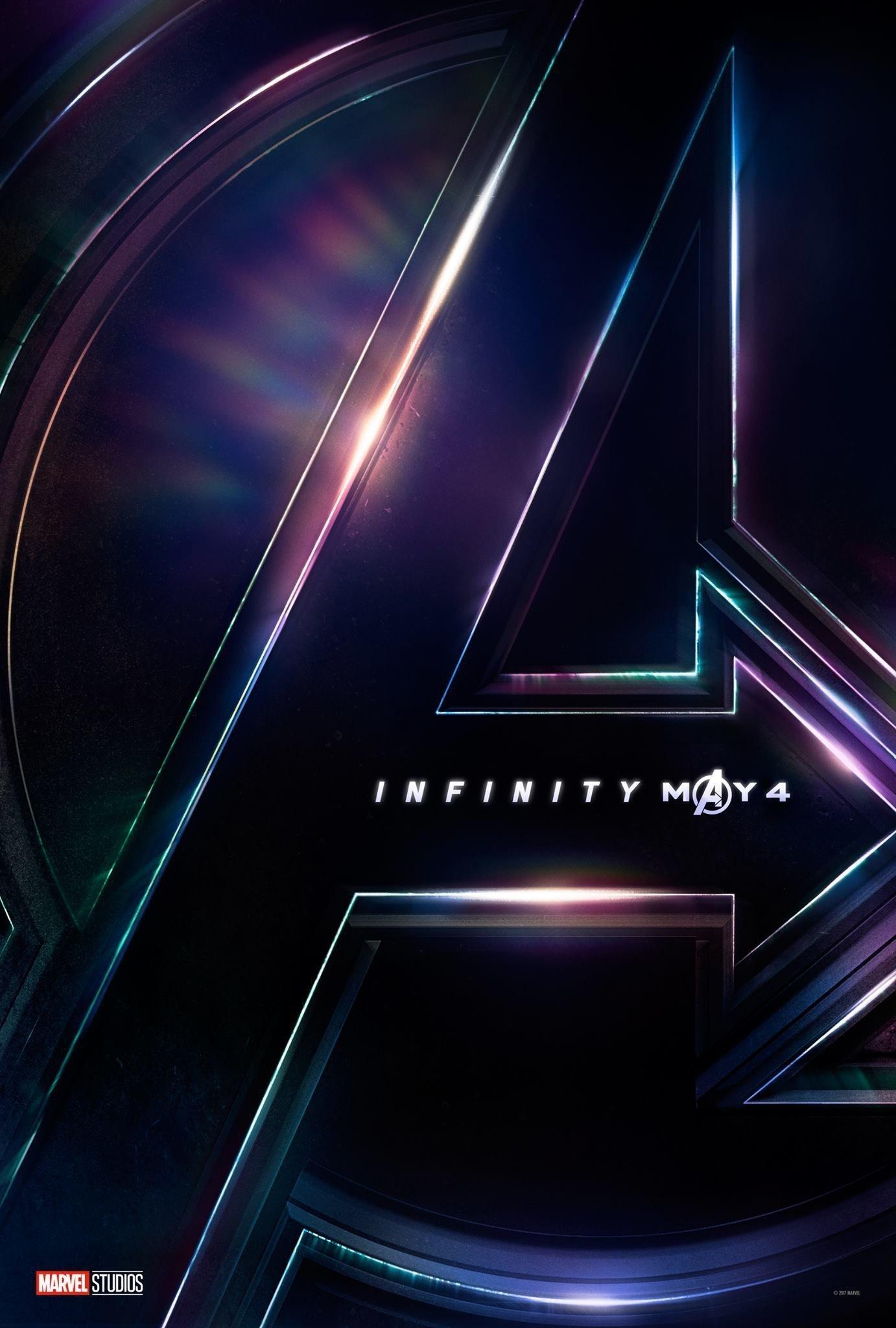 Poster teaser avec le logo pour le film Avengers: Infinity War