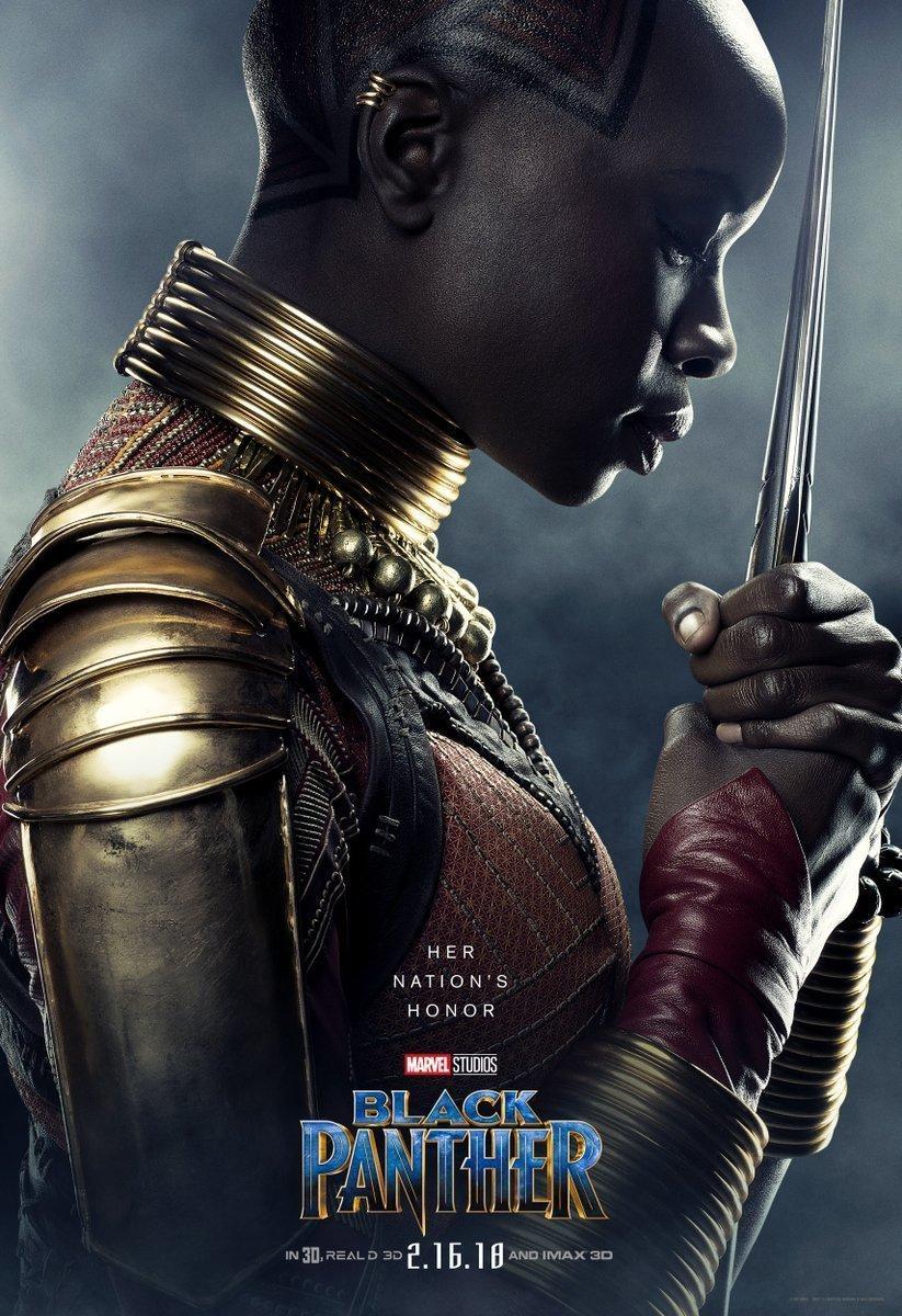 Poster du film Black Panther avec Danai Gurira (Okoye)