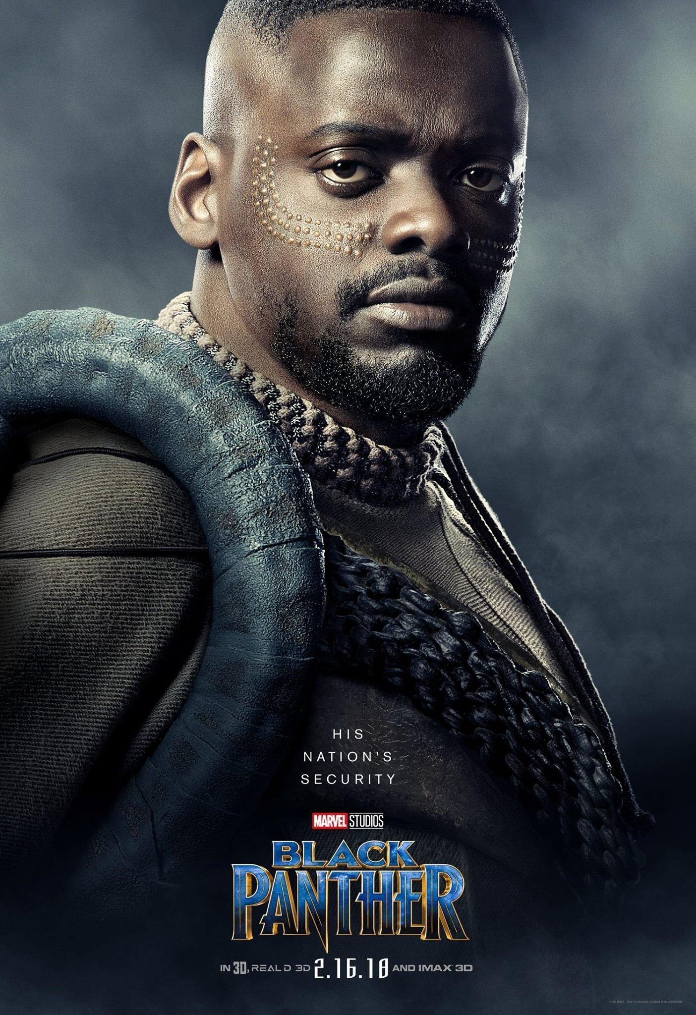 Poster du film Black Panther avec Daniel Kaluuya (W'Kabi)