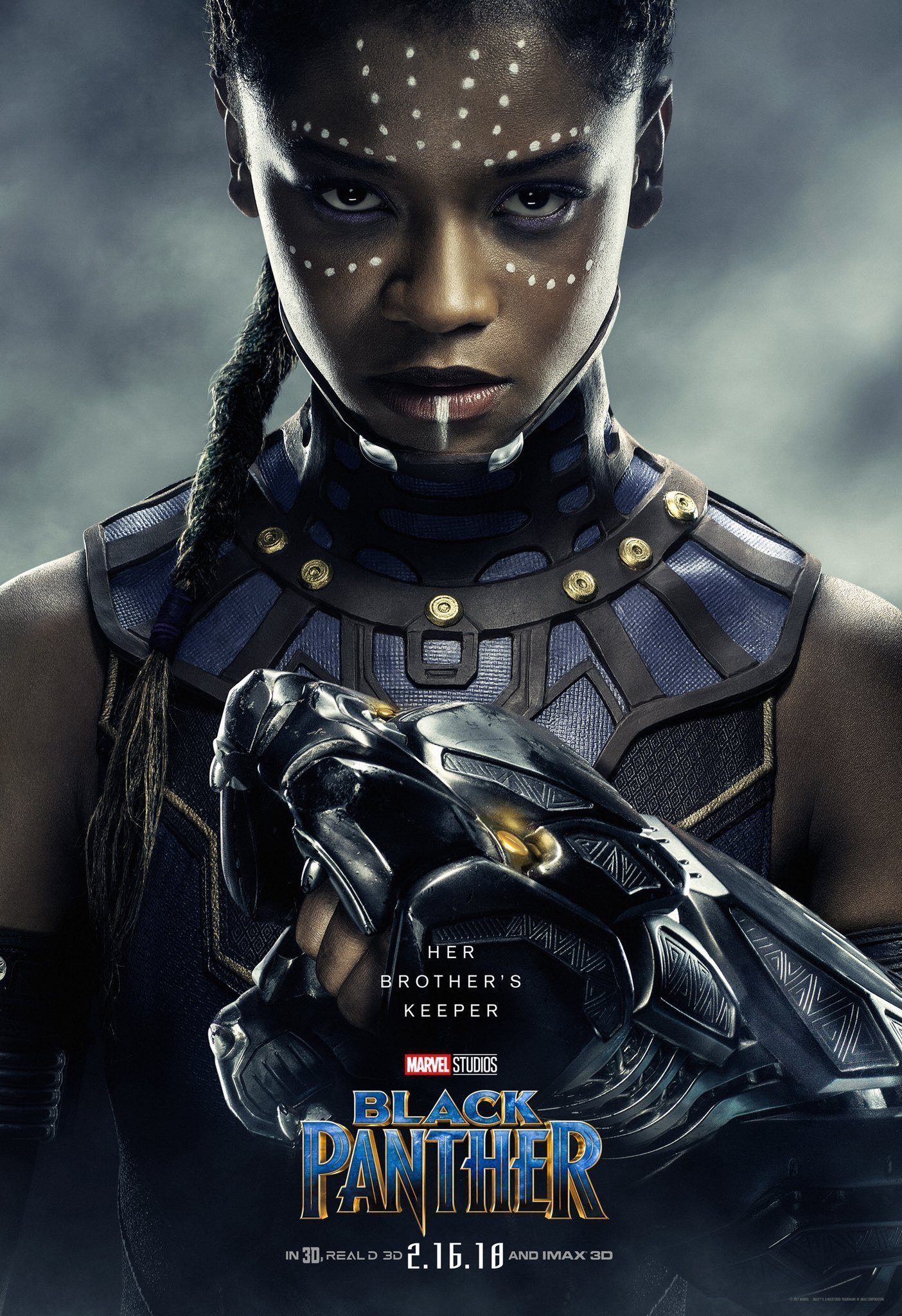 Poster du film Black Panther avec Letitia Wright (Shuri)