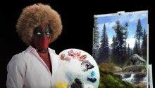 Photo de la bande-annonce du film Deadpool 2 parodiant Bob Ross
