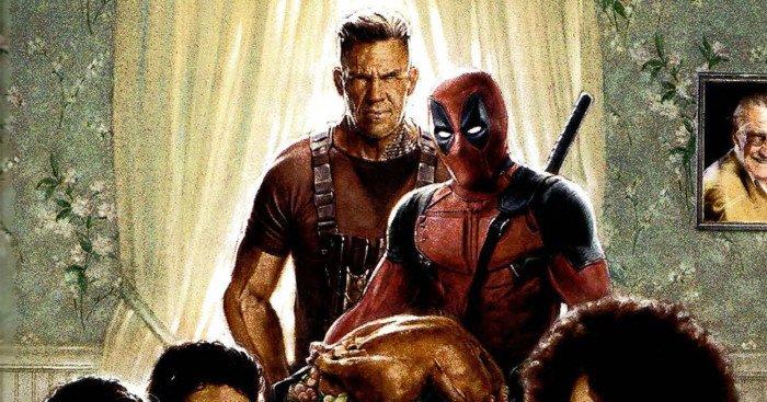 Poster du film Deadpool 2 parodiant À l'Abri du besoin