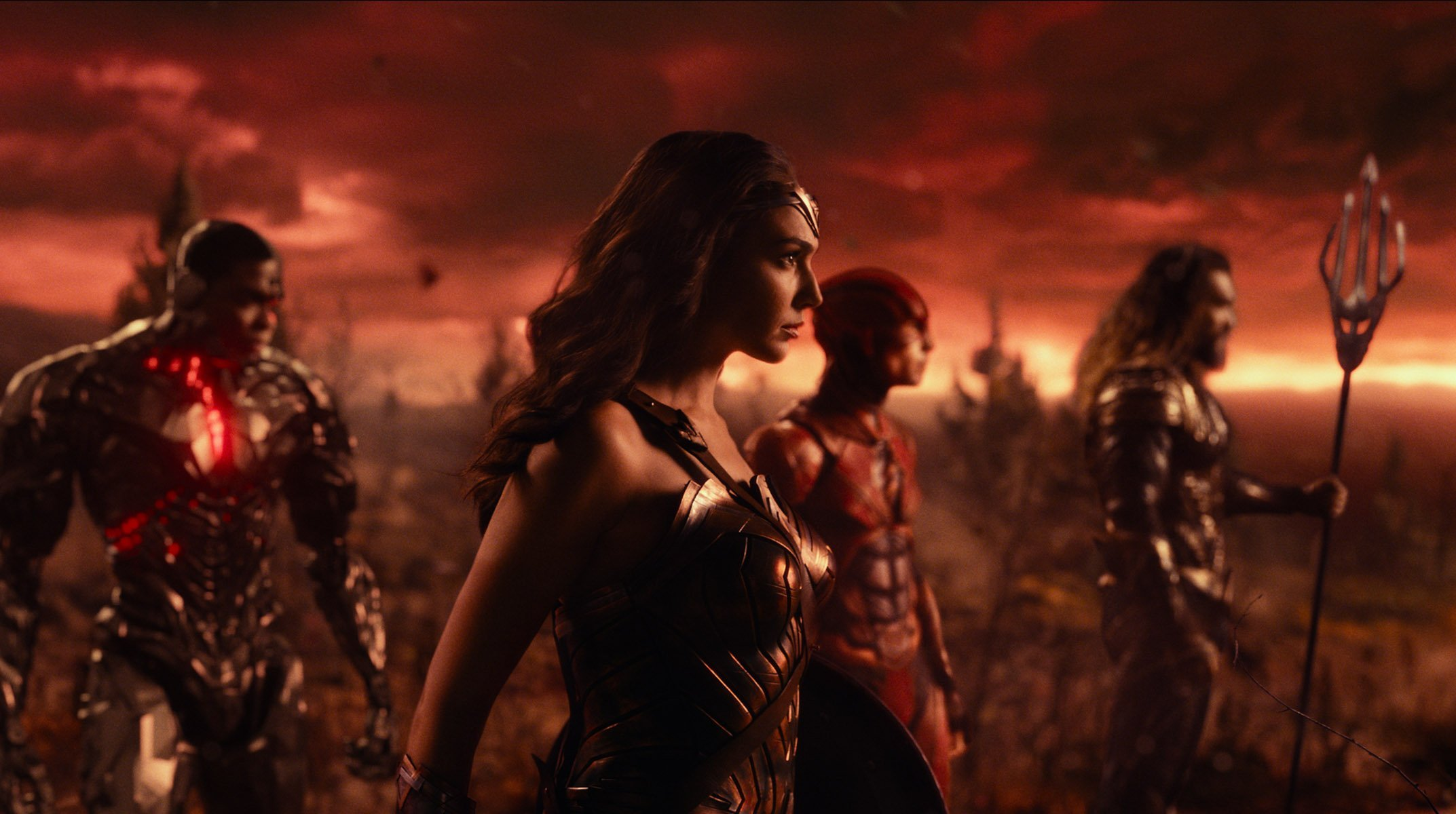 Photo du film Justice League avec l'équipe