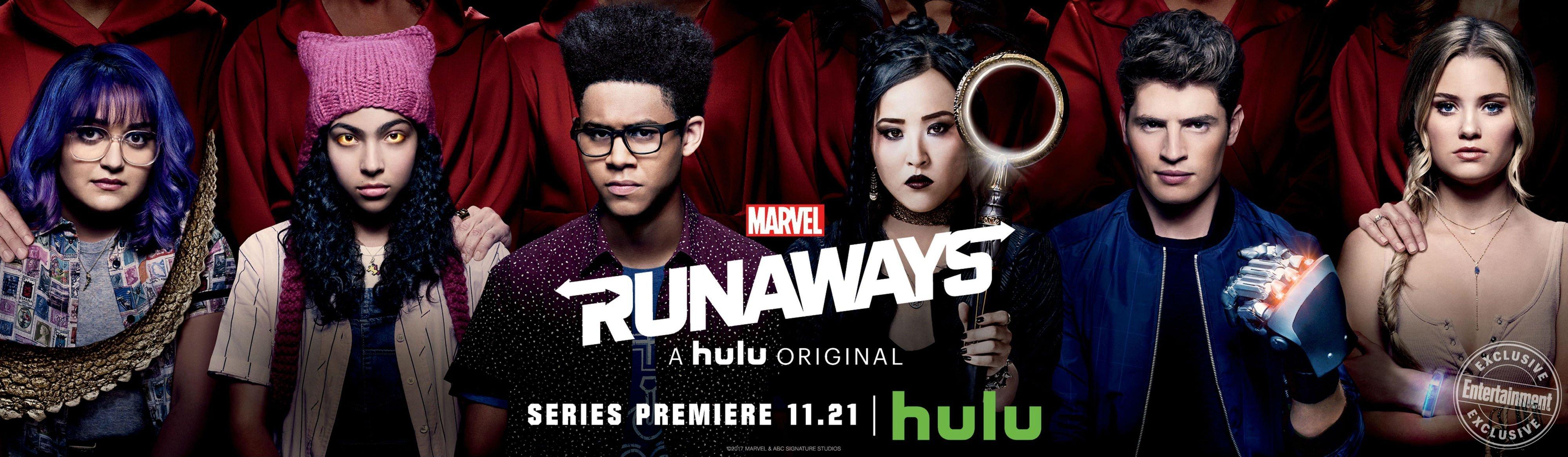 Bannière de la série Marvel Runaways pour Hulu