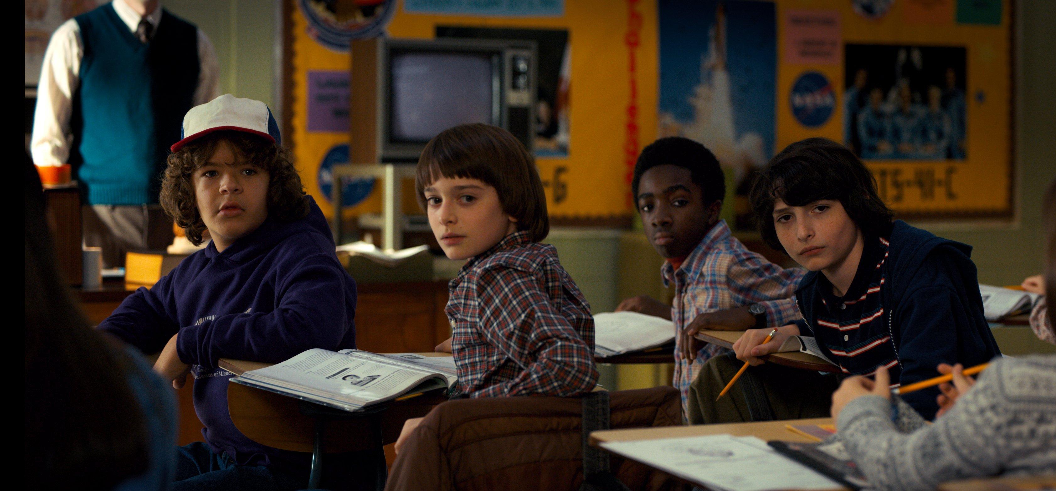 Photo de Stranger Things 2 avec le club audiovisuel