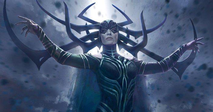 Concept art du film Thor: Ragnarok avec Hela par Andy Park