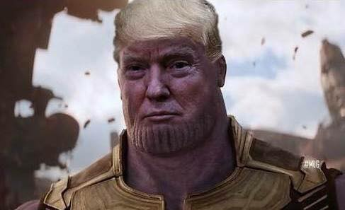 Photo d'Avengers: Infinity War avec Thanos version Donald Trump